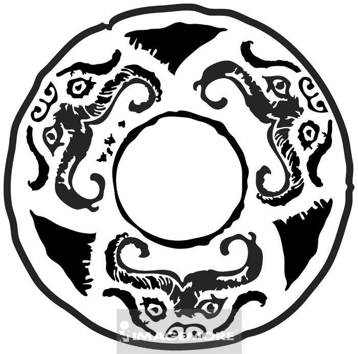 动物花纹黑白图片