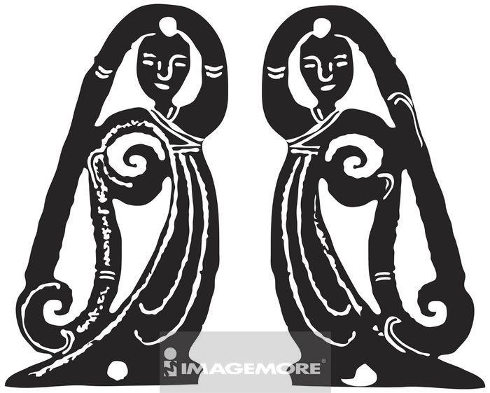 向量,计算机绘图,古玉纹路,古代,玉饰,传统,艺术,古早,图腾,玉器,纹饰