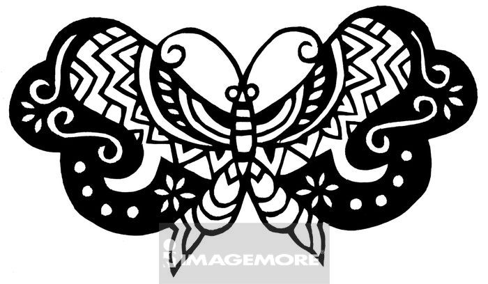 蝴蝶的数字谱子