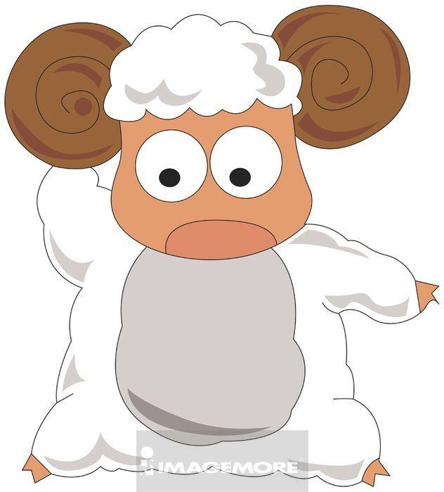 绵羊简笔画彩色