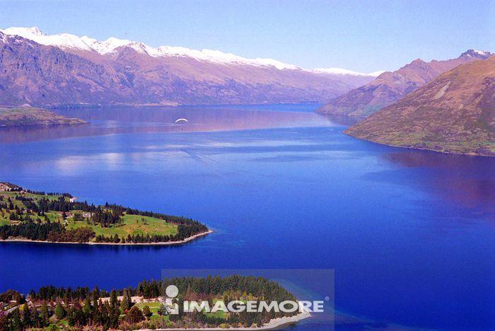 自然,湖泊,山,水,
