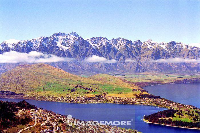自然,湖泊,山,水,雪,