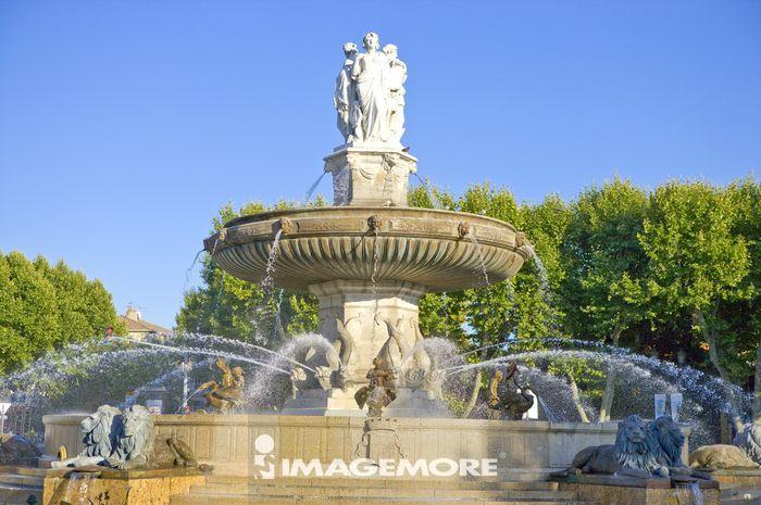 欧洲,法国,普罗旺斯,艾克斯,狮子喷泉,