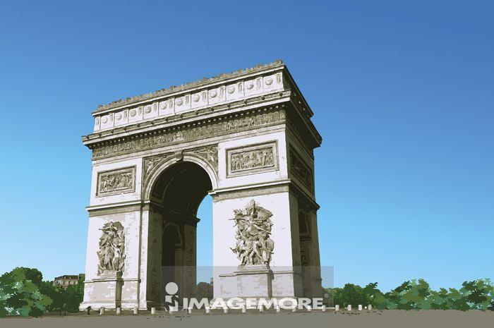 法国,巴黎,巴黎凯旋门,首都,