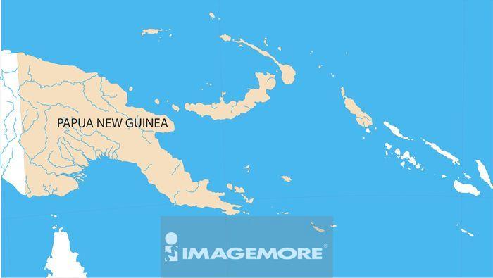巴布亚新几内亚地图高清合法正版商业图片 - image富