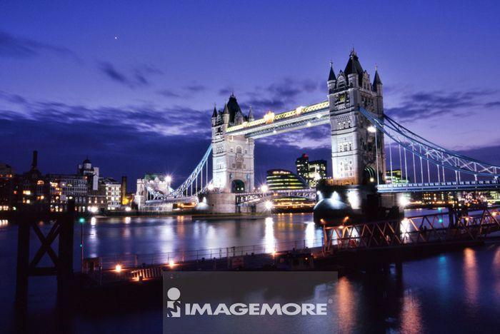 人为景观,建筑,英国,伦敦,塔桥