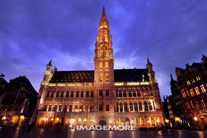 人为景观,建筑,比利时,布鲁塞尔,黄金广场