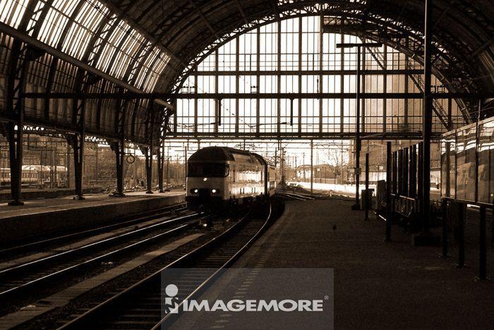人为景观,火车,荷兰,阿姆斯特丹,中央车站