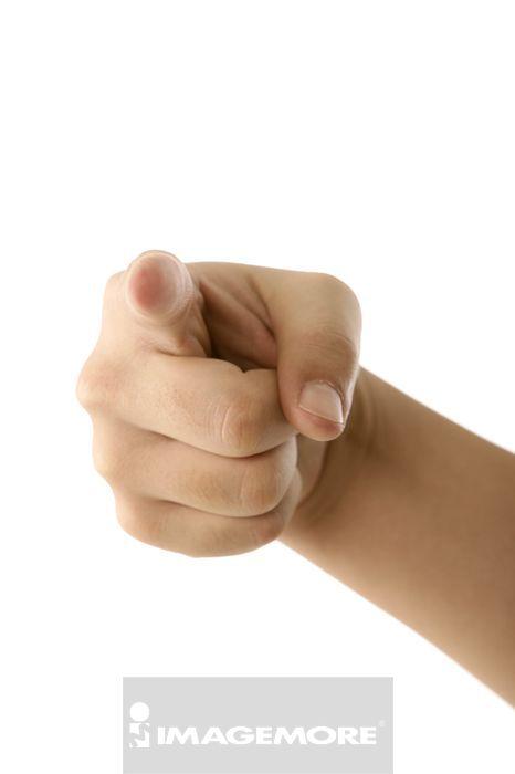 指向镜头的手势