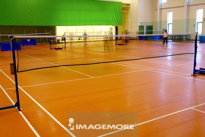 室内,橙色,橘色,横图,运动场,球场,体育馆,运动,球网,硬木地板,羽毛球
