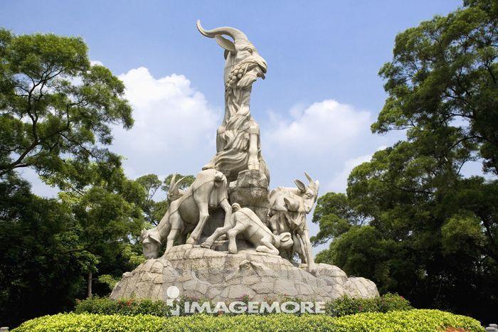 中国,广东省,广州,越秀公园,五羊雕像
