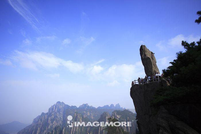 中国,安徽省,黄山,飞来石