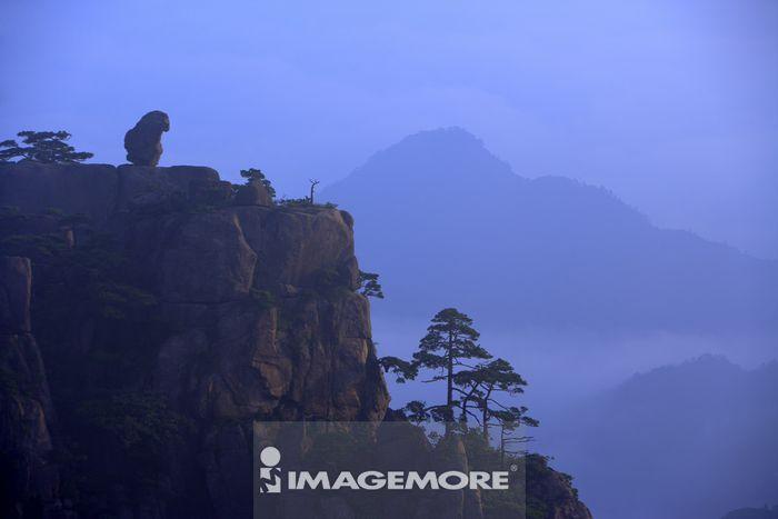 中国,安徽省,黄山,猴子观海