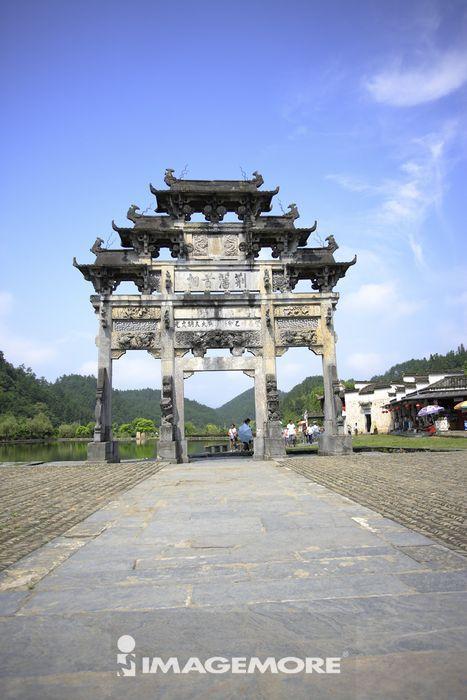 中国,安徽省,西递村,牌坊