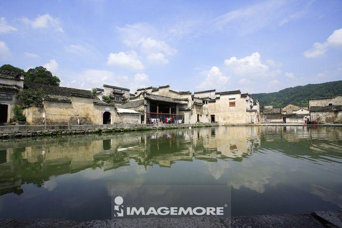 中国,安徽省,宏村,南湖