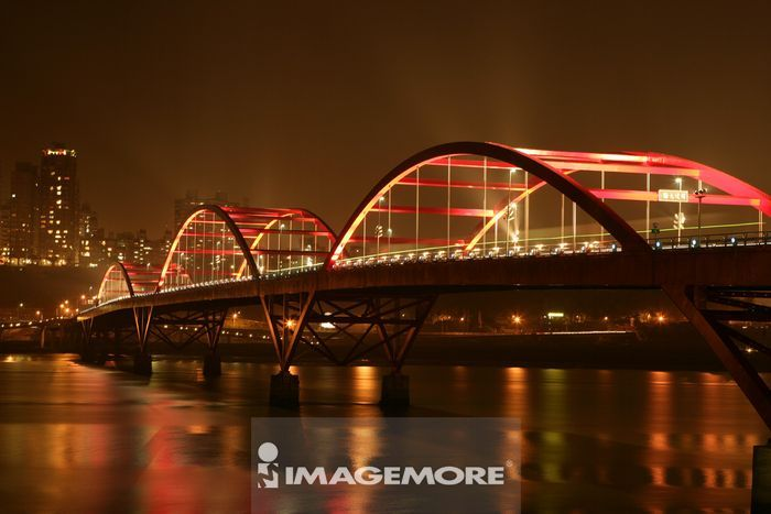 亚洲,台湾,台北,关渡大桥,