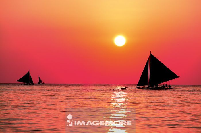 菲律宾,长滩岛,日落,菲律宾,长滩岛