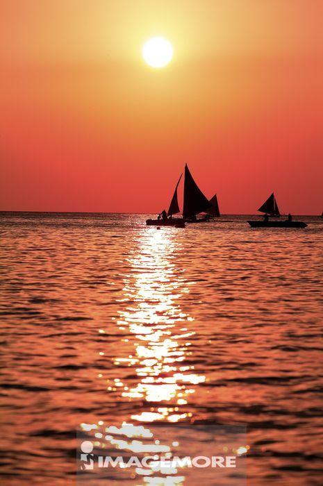 菲律宾,长滩岛,日落