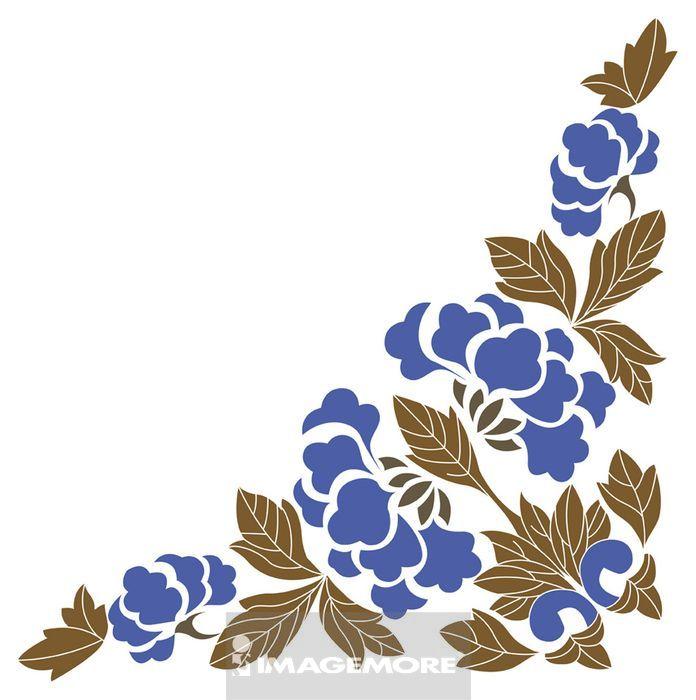 传统文化,中国文化,中国风,花纹,边框,古典风格,装饰,花,叶子,叶,正方