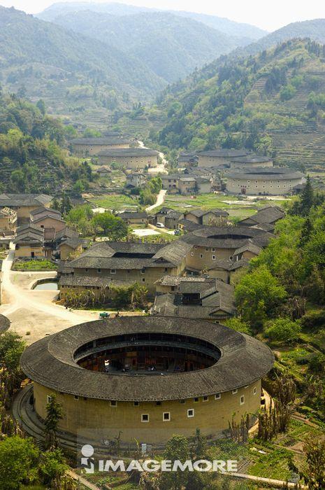 亚洲,中国,福建,南靖县,书洋镇,河坑村,河坑土楼群,