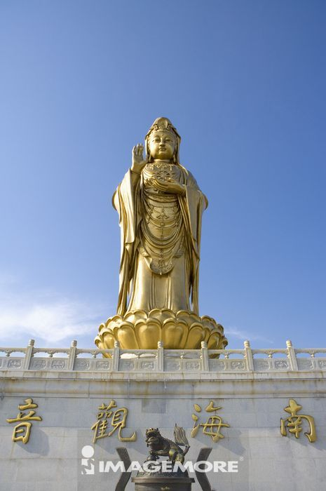 亚洲,中国,浙江,普陀山,紫竹林景区,南海观音铜像,