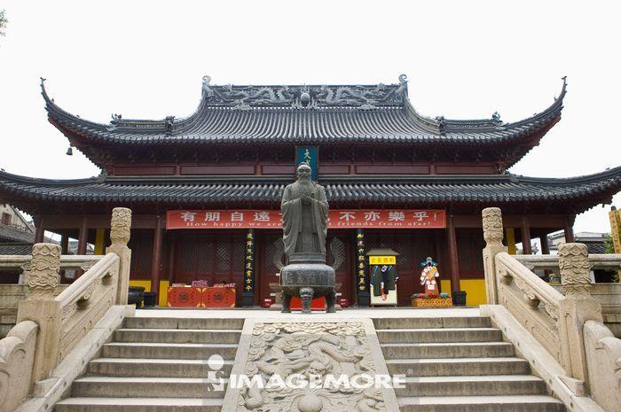 亚洲,中国,江苏省,南京,夫子庙,孔子像