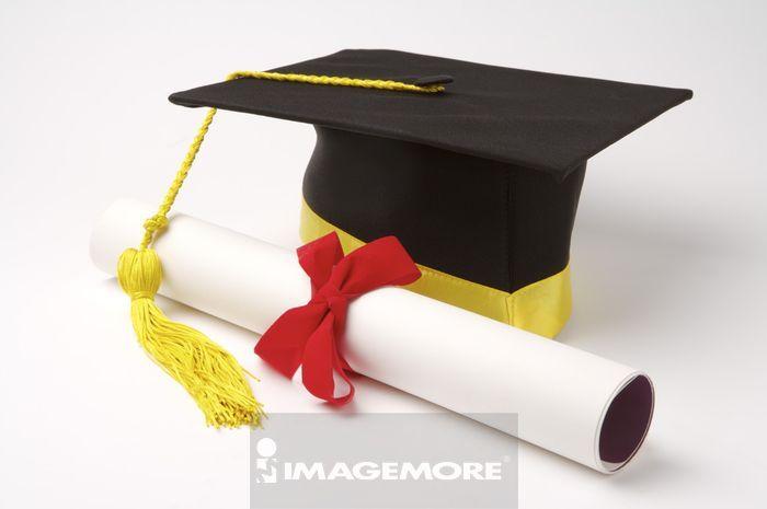 毕业证书,学士帽