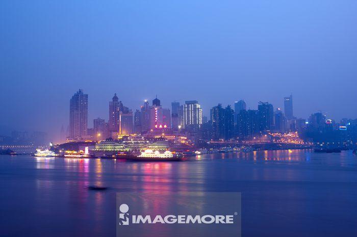 中国, 重庆, 两江汇流, 朝天门码头