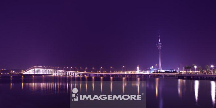 中国,澳门,澳门旅游塔,澳凼大桥