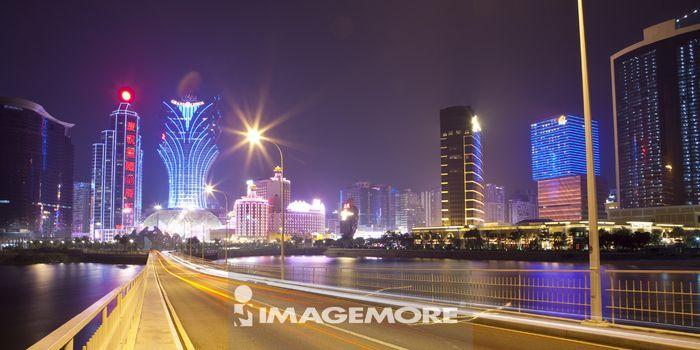 中国,澳门,夜景
