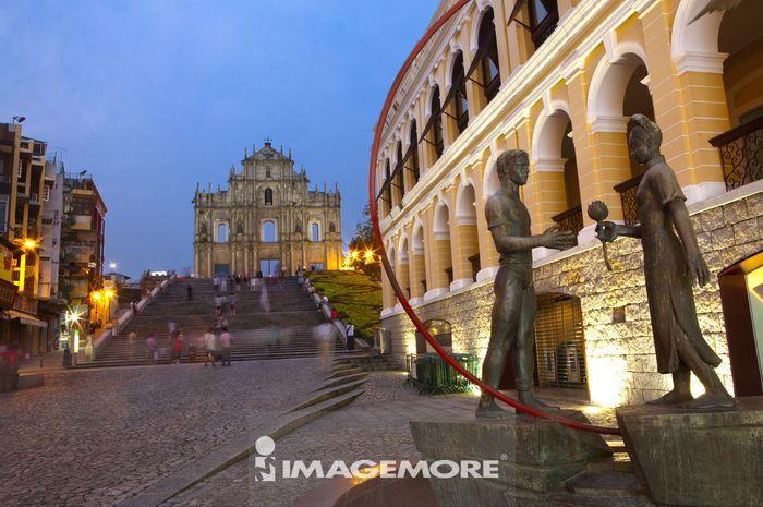 中国,澳门,大三巴牌坊,耶稣会纪念广场,世界遗产,世界文化遗产