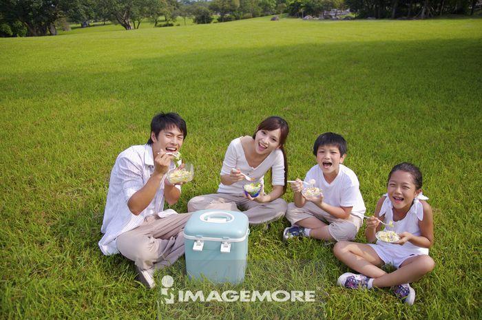 家庭,野餐