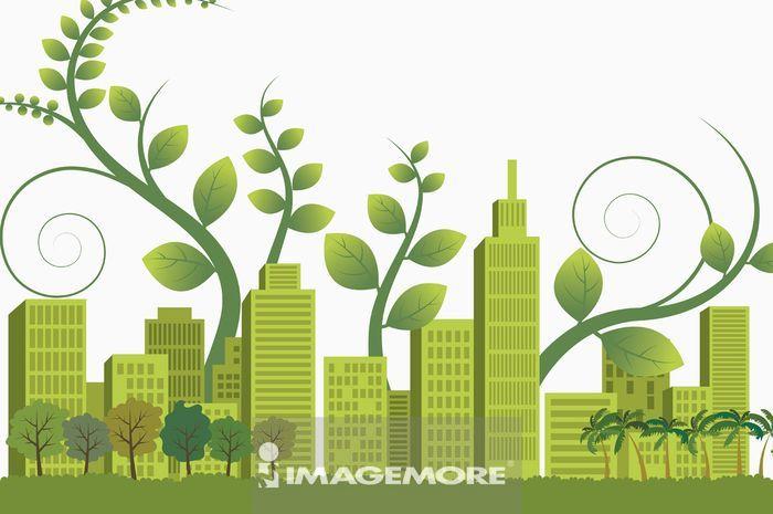 插画和绘画,环保,能源