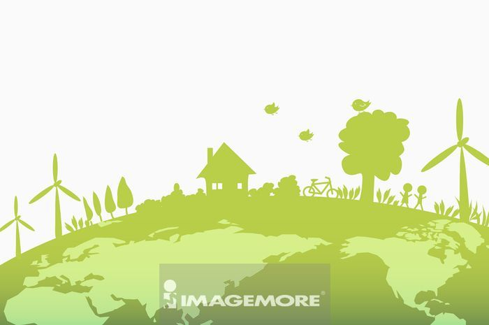 插画,环保,能源