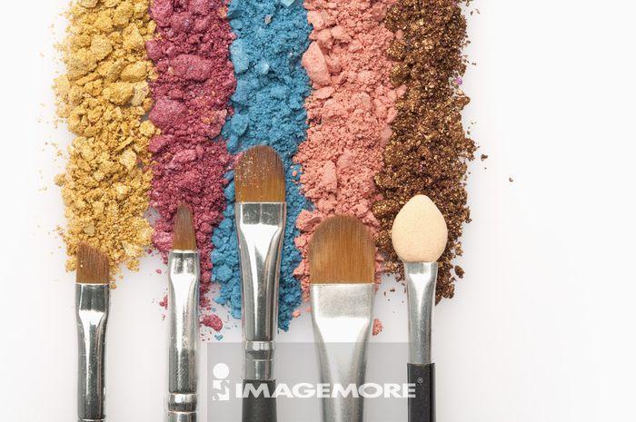 化妆品,眼影,化妆用刷子