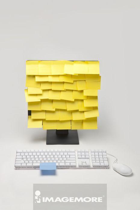 台式个人电脑,便签