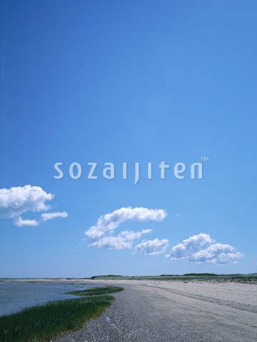 fh103,晴空,风景,大自然,天空,云,蓝色,海洋,海平线,沙滩,沙摊,海滩