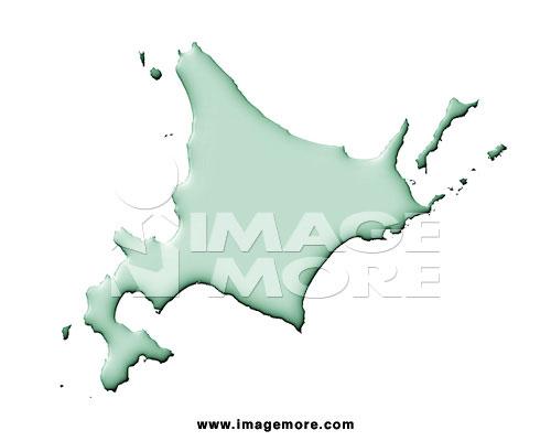 日本北海道地图