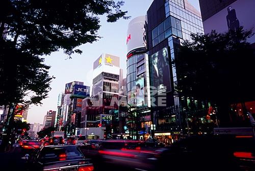 Cityscape, Ginza, Tokyo, Japan