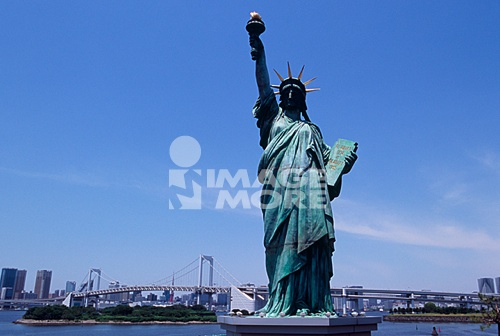 Statue of Liberty in Daiba, Tokyo, Japan