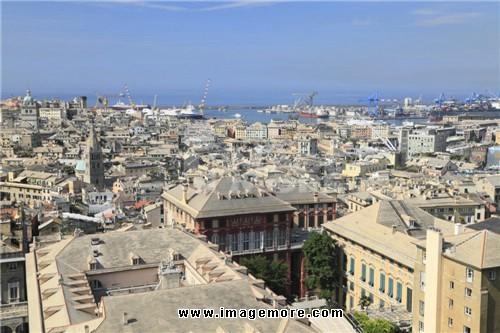 Cityscape of Genoa, Genoa, Liguria, Italy