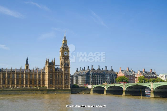 Palace of Westminster and River Thames, London, England, United Kingdom
