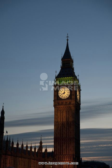 Night View of Big Ben, London, England, United Kingdom