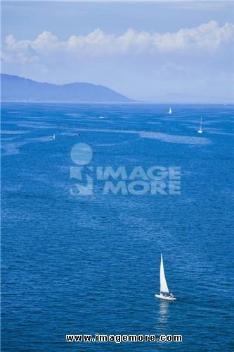 Yacht in Lake Biwa, Otsu, Shiga, Japan