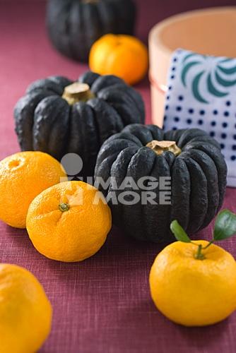 Pumpkin and Chinese lemons