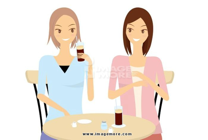 Two women to chat