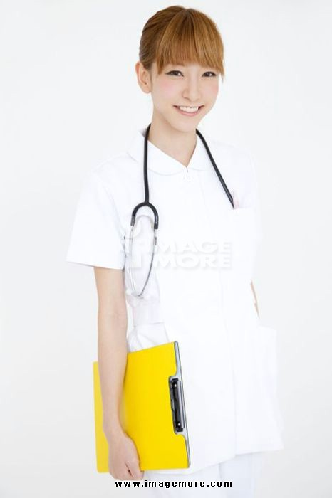 Nurse with a binder