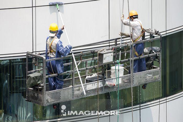 台北,台湾,中国,亚洲,窗户,清洁工人