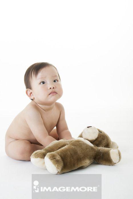 中国可爱萌男婴儿