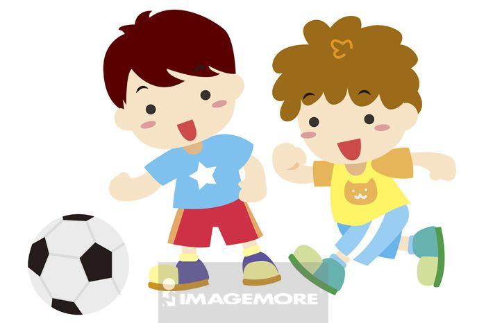 足球,学生,